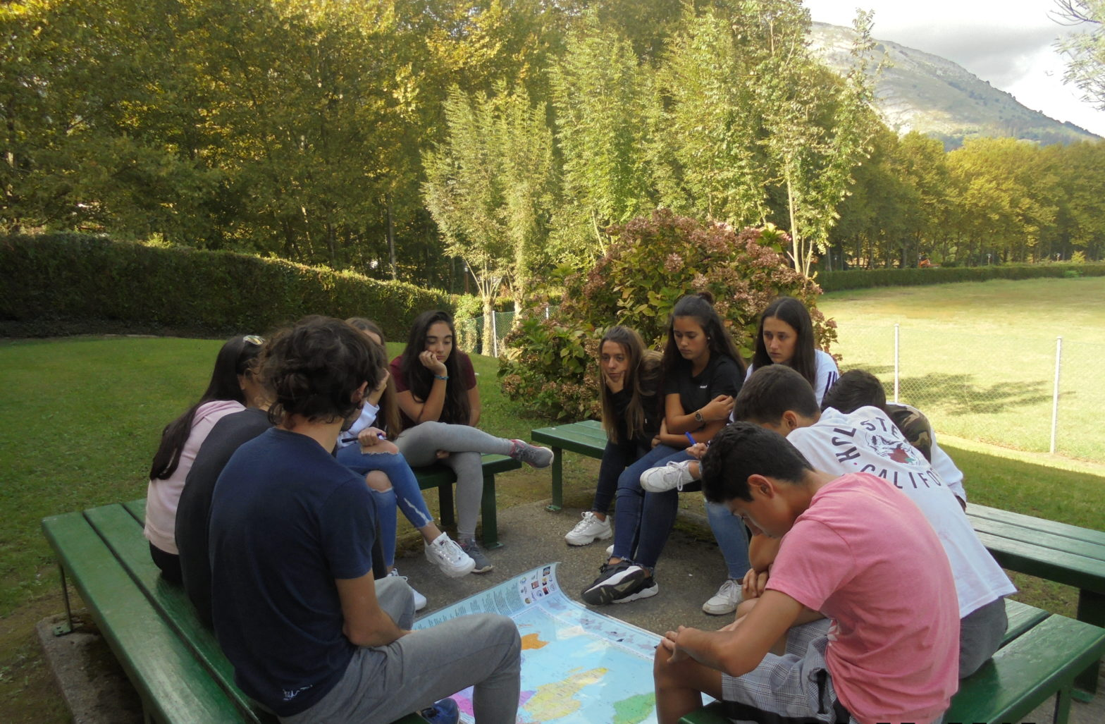 Group of students outside photo